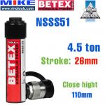 Kích thuỷ lực một chiều loại tiêu chuẩn Bega NSSS51, hồi về bằng lò xo - tải trọng 4,5 tấn