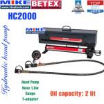 Bộ bơm tay thủy lực Bega Betex HC2000 (2000cm3, thép)