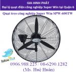 Quạt công nghiệp Super Win SPW-600TW sải cánh 60cm dùng cho nhà xưởng, quán ăn, quán cafe, hội trường, giá tốt tại đại lý quận 6