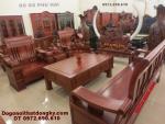 Bộ bàn ghế đồng kỵ gỗ hương kiểu mới B63