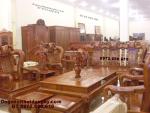 Bộ bàn ghế đẹp gỗ hương Quốc đào do go dong ky QD72