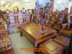 Bộ bàn ghế đẹp Gỗ đinh hương kiểu quốc voi QV74