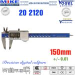 Thước cặp điện tử 150mm, IP67 - Vogel Germany