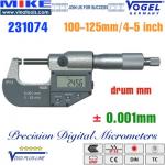 Panme điện tử 100-125mm, IP54, drum mm