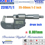Panme điện tử 25-50 mm, IP54, drum inch