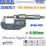 Panme điện tử 125-150 mm, IP54, drum inch