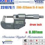 Panme điện tử 200-225 mm, IP54, drum inch