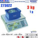 Cân điện tử đếm sản phẩm - Cân công nghiệp - Cân đếm. Tải trọng 3kg.