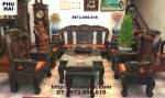 Bàn ghế phòng khách đẹp ( Gỗ mun ) Phượng công PC16