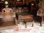 Mẫu Bàn ghế gỗ mun sọc Kiểu Như ý voi NY03