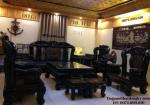 Bàn ghế gỗ mun sừng Mẫu Công trĩ B97
