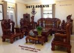 Bộ bàn ghế đẹp gỗ đinh hương Vai 14 mẫu hồng trĩ B99