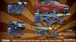 cau nang cat keo, cầu nâng cắt kéo, cầu nâng kiểu xếp sửa chữa ô tô