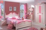 Phòng ngủ đồng bộ trẻ em sắc hồng cho bé BABY M825