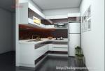 Mẫu tủ bếp cho nhà nhỏ hẹp - Anh Lượng, Hà Nội