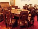 Bộ bàn ăn tròn xoay bobanghedep.com BA79