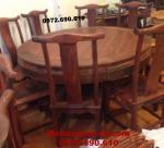 Mẫu bàn ghế ăn đẹp Kiểu bàn tròn gỗ hương BA81