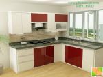 tủ bếp gỗ công nghiệp chữ L cho mọi gia đình 0977133533