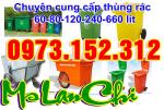 Xả kho, bán giá gốc thùng rác công cộng 120, 240, 660 lít