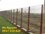 Hàng rào mạ kẽm chấn sóng- gập tam giác