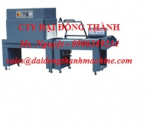 Máy đóng gói rút màng co, máy cắt dán và co màng tự động model BBS-4525 Đài Loan
