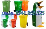 Thùng rác công cộng 120 lít 240 lít giá rẻ, thùng rác nhựa trên Toàn Quốc