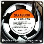 Quạt Sakaguchi GH9225HA2SL, 220VAC, 92x92x25mm