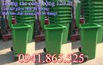 Chuyên thùng rác nhựa, thùng rác công nghiệp 120l, 240l
