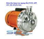 Máy bơm dân dụng trục ngang đầu INOX APP SW-250 (INOX 304). LH: 0917804721
