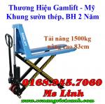 Xe nâng tay 1500kg nâng cao 80cm Gamlift SLT15M
