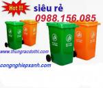 thùng rác công cộng, thùng rác đô thị nhựa HDPE 120l, 240l 660l