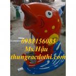 Chuyên cung cấp thùng rác hình thú nhựa composite. 0988156085_hậu