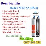 Bơm nước giếng khoan sâu 4 inch- motor giải nhiệt dầu- cánh nhựa chịu cát COVERCO NPS4 SN 408/18 4HP