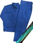 Quần áo công nhân vải Si màu xanh bích