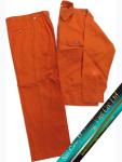 Quần áo công nhân vải Si màu cam
