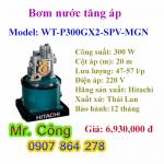 Máy bơm nước tăng áp tự động tròn Hitachi WT-P300GX2-SPV-MGN 300W