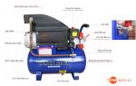 Máy nén khí Mini 3 HP MINBAO MB24 bình chứa 24L, thời gian nạp nhanh