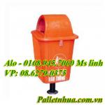 Thùng rác 55 Lít Composite chân sắt  FTR55
