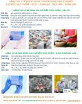 Găng tay Nitrile - Latex dùng cho chế biến thực phẩm