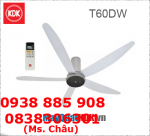 Quạt trần remote KDK T60DW, động cơ DC