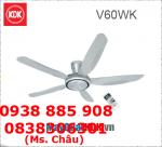 Quạt trần remote KDK V60WK, thiết kế cánh 3D
