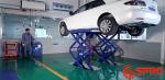 Cầu nâng cắt kéo - kiểu xếp nâng gầm sửa chữa xe ô tô