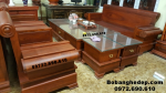 Bộ bàn ghế phòng khách đẹp gỗ hương kiểu mới B243