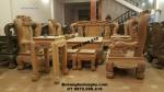 Bộ bàn ghế đẹp cho Đại gia, Bộ Con Công Gỗ Hương B248