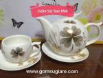Bộ tách trà sứ hàn quốc Korea Style - kho gốm sứ sao mai