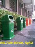 Thùng rác 95 lít, thùng rác nhựa HDPE giá rẻ call 096.7788.450