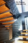Cầu thang sắt cắt CNC họa tiết tinh tế
