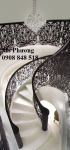 Cầu thang cắt CNC hiện đại,hoa văn tinh tế