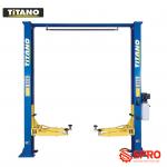 Cầu nâng 2 trụ titano không thể thiếu trong gara chuyên dụng