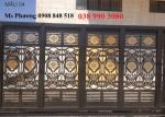 Cửa, cổng hoa văn sắt cắt CNC nghệ thuật
